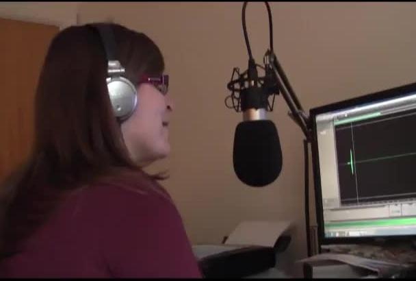 record a script in my female British accent