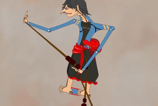 make your digital wayang, Indonesian shadow puppet