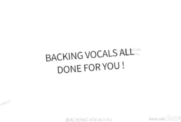 sing perfect backing vocals on your song