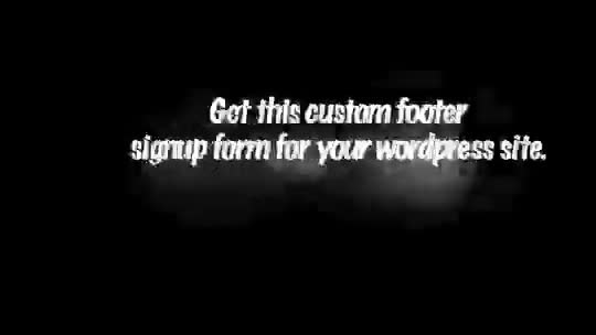 make a footer signup form on your wordpress site
