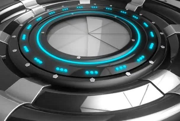 3d sci fi opener logo animation intro