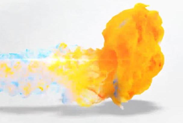 make your logo appear through a flame burst