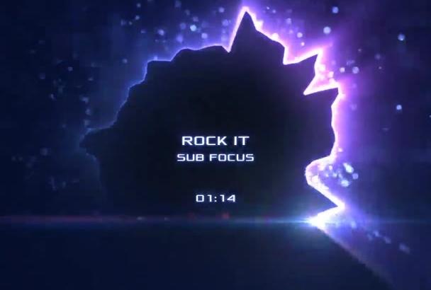 make the Black Hole Music Visualization Video
