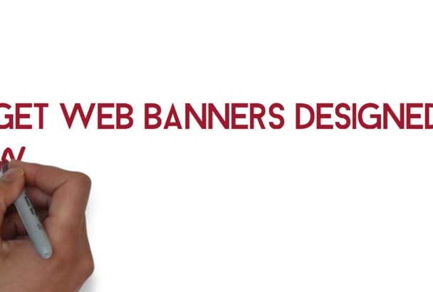 create eyecatching web banners for you