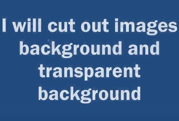 cut out images and transparent background