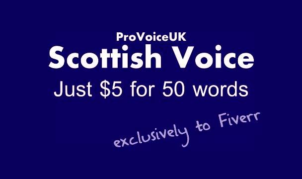 record a Pro Scottish Male Voiceover