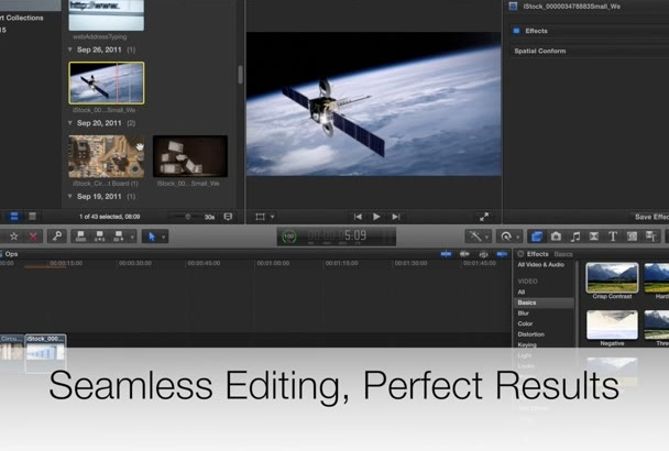 do professional video and film editing