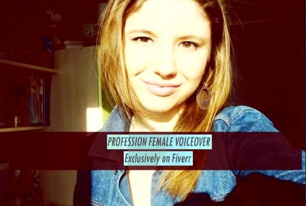 premium studio Female Voiceover
