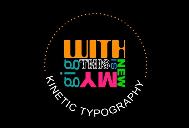 create Kinetic Typography music video for your Lyrics