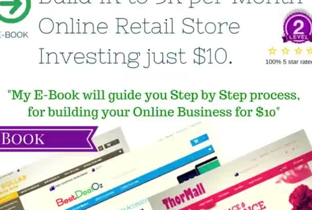 create an automated online store Earn 1k to 5k per month