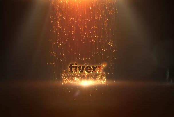 create Excellent 3D sparkles rain logo video