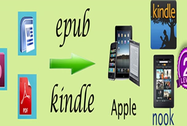 convert word or pdf to ePub Kindle Createspace