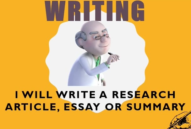 write a research article, essay or  a summary