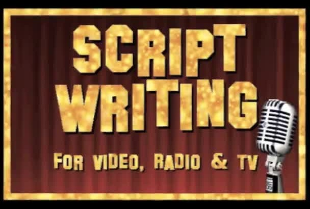 write a 30 second script for video, radio or TV