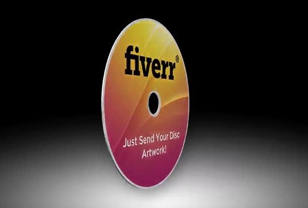 create a spinning 3D disc, dvd, CD
