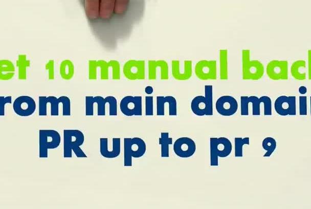 manually do 10 high PR seo Backlink