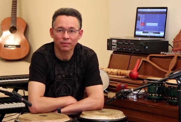 record percussion in your music