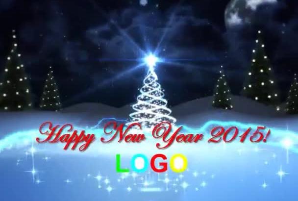 beautiful Christmas New Year Logo Reveal