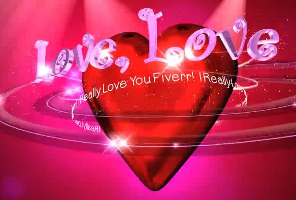 make cute Valentine Love Message Video