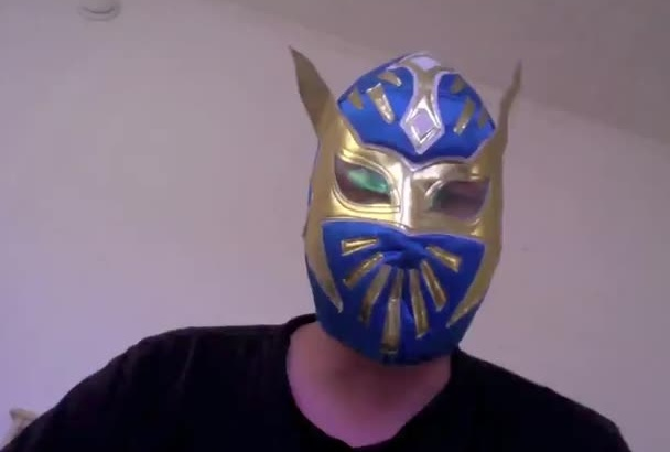 sing any karaoke song in a luchadore mask