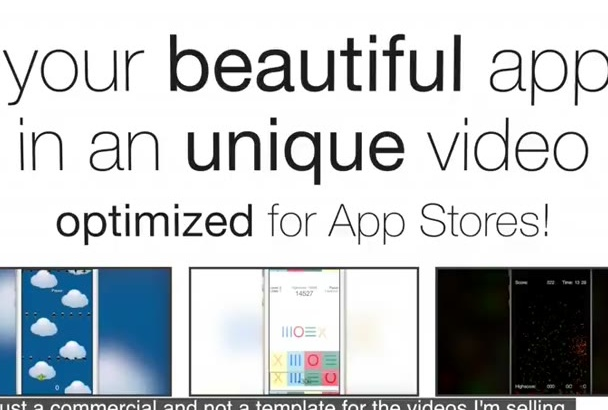 create an UNIQUE AppStore preview video of your App