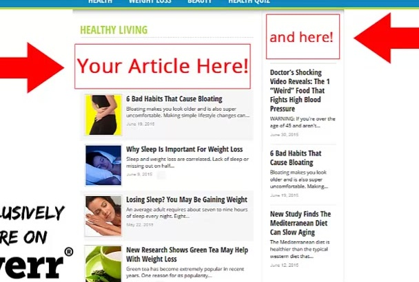 post your Health Article on my 300k unique users health blog