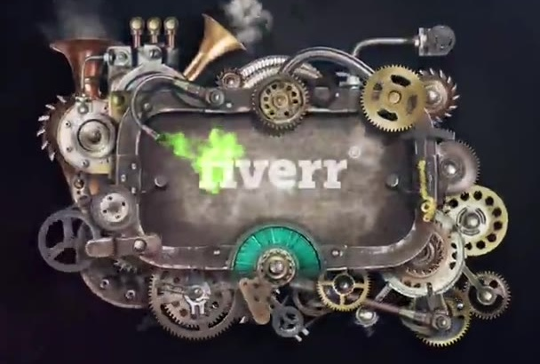 do steampunk machine logo reveal intro