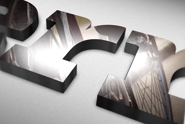 make STUNNING 3d Logo Reflection Video Intro Bumper