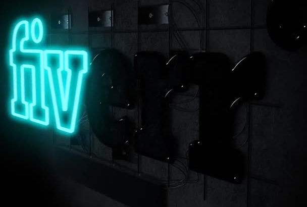 create a Neon logo reveal for you
