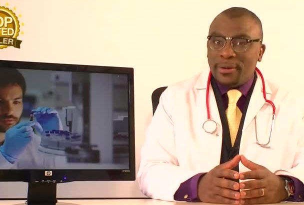 do a video as a scientist or lab technician