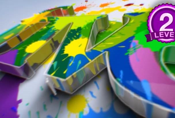 stunning Paint Splatter Logo Animation