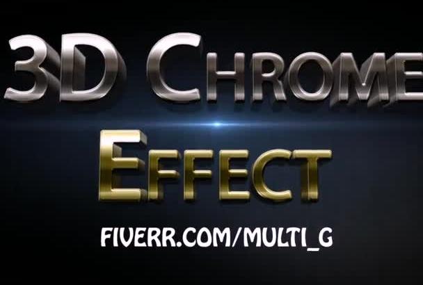 turn Logo or Text Into 3D Metallic Chrome Effect