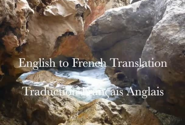 translate English to French and vice versa