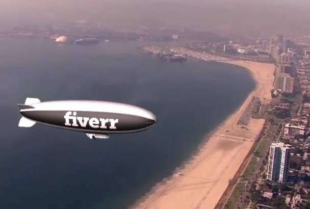 place whatever you want on a blimp