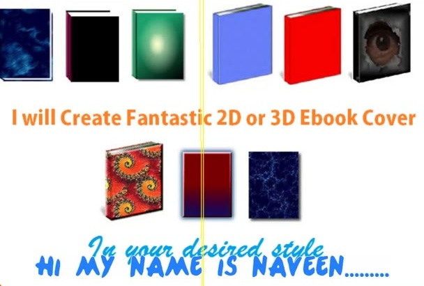 create Fantastic 2D or 3D Ebook Cover