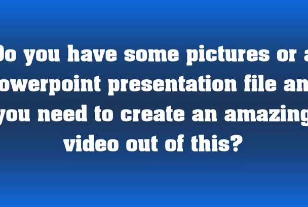 convert your PowerPoint ppt slides to High Quality Video