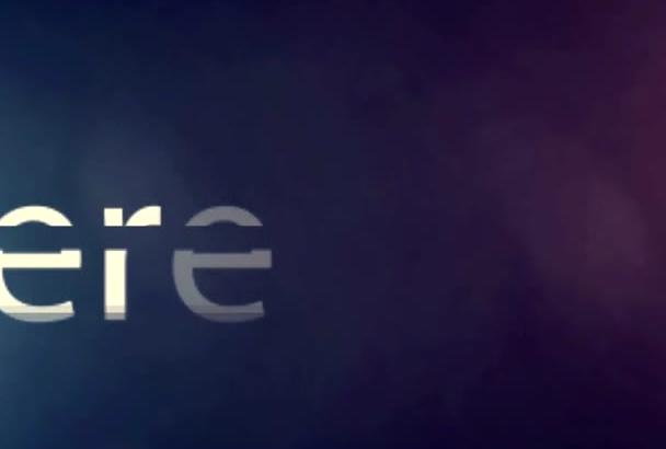 create Futuristic Intro for your Logo
