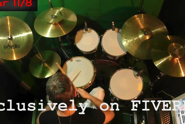 record a real Drum tracks professional for your project