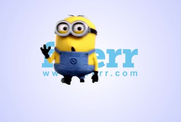 make funny jumping minion video with your logo or message