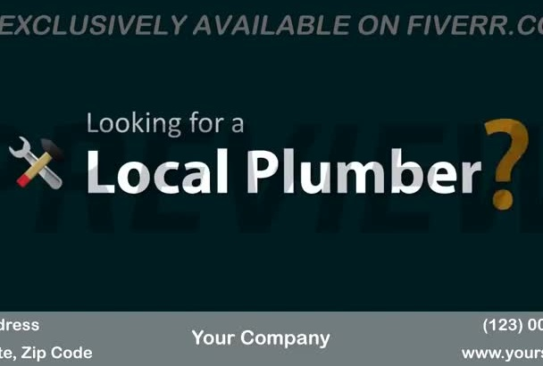 brand a video customized for Plumber