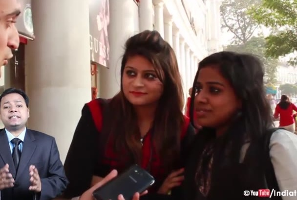 interview people on the streets of India