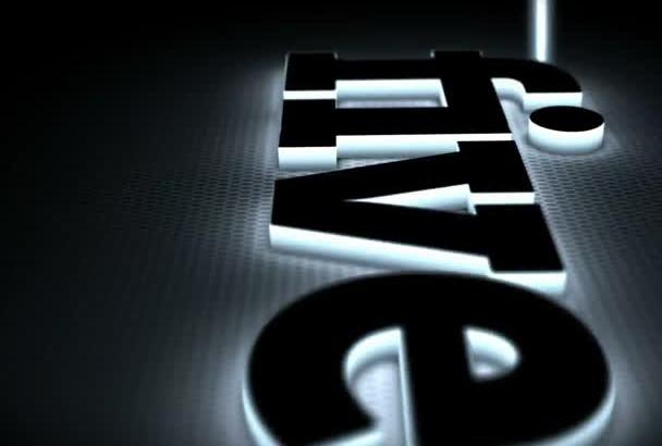 light Emitting 3D Logo  intro video