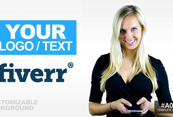 customize a promotional logo video intro spokesperson