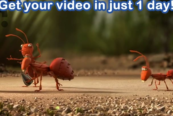 advertise your company with this funny ants teamwork video