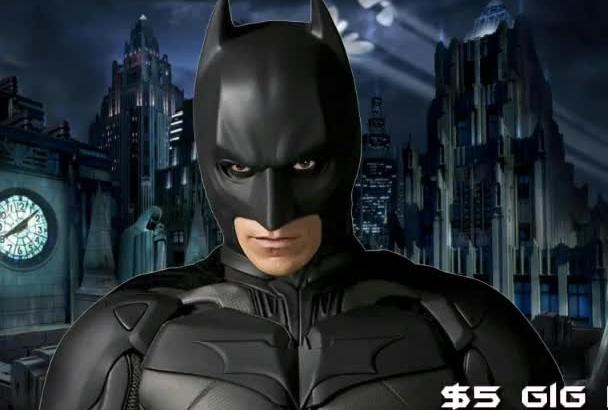 create A Custom BATMAN 3D Animated Video Greeting