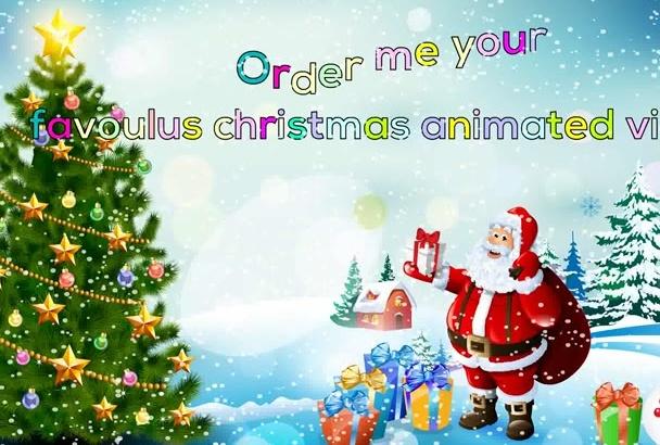 animate fabulous Christmas video