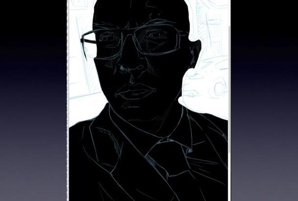 create a NOIR portrait from your photo