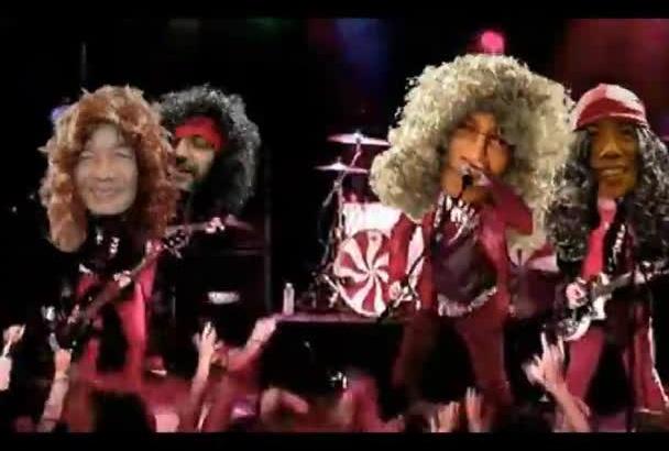 make Christmas ROCK song Video