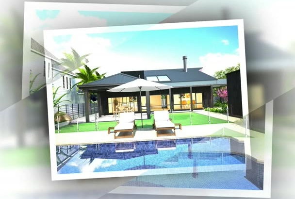 design the interior and exterior, floor plan drawing