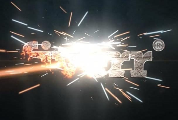 make logo Sparks intro video
